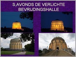 S,AVONDS DE VERLICHTE BEVRIJDINGSHALLE